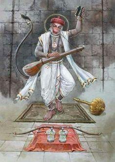 Uncleji is not at all Hanumanji. Because wo aadmi hai. Hanuman Ji Wallpapers, Lord Rama Images, Hanuman Images, Hanuman Pics, Hanuman Chalisa, Durga, Sri Rama, Hindu Dharma, Shiva Shakti