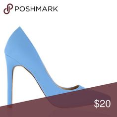 Powder blue pumps 💙 Never been worn! I still keep them in the bag they came in! I can post more pictures if anyone is interested. 4 in heels Shoes Heels