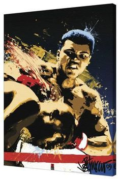 Muhammad Ali Sting Sports Blacklight Poster - 61 x 91 cm Mohamed Ali, Karate, Boxing Posters, Sports Posters, Boxing Quotes, Float Like A Butterfly, Black Light Posters, Black Artwork, Bee Art