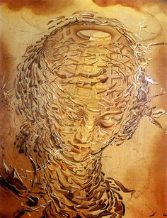 Head Exploding, 1951 by Salvador Dali  #dali #paintings #art