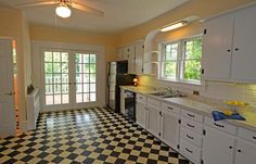 nifty linoleum and shelves over window uppers