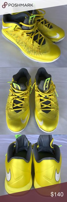 Nike Air Max LeBron X Men Shoe Size 11 Nike Air Max LeBron X Men Shoe Size 11. Sonic Yellow with neon green and grey accents. Only worn a few times. Basketball. Nike Shoes Sneakers