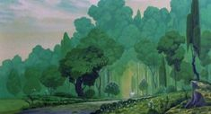 The Last Unicorn and a Better Remembrance Fantasy Landscape, Fantasy Art, Unicorn Tapestries, The Last Unicorn, Forest Background, Environment Concept Art, Traditional Paintings, The Magicians, Art Inspo
