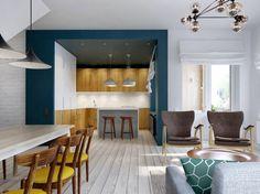 L'open space e il blocco cucina