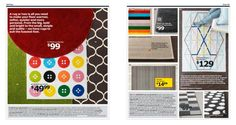 IKEA Catalog 2015. Love the rainbow stripe rug.