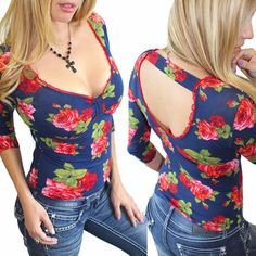 New Country Girl Gypsy Pinup Rose Biker Bling Cowgirl Southern Sexy Top Tee SMLX #DemiLoon #Blouse #Casual