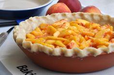 Peach Pie with Heath Bar Crumb Topping