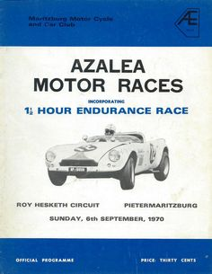 We hope you enjoy your visit to this website, enquiries, comments and suggestions will be most welcome.We still need contributions of programme covers and contents not listed between 1953 to 6 September, Programming, South Africa, 1970s, Racing, Cars, Sports, Xmas, Running