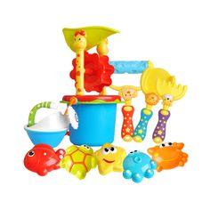 4Pcs Beach Sand Play Toys Bucket Rakes Sand Watering Sand Kids Play Bath Toys UK