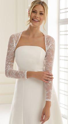 b34500a555f3 Chic bolero E230 from Bianco Evento  biancoevento  bolero  weddingdress   weddingideas  bridetobe