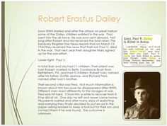 Dailey Family Tree - page 27  Robert Erastus Dailey Kids and WWII