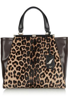 Diane von Furstenberg Runway calf hair and leather tote | THE OUTNET