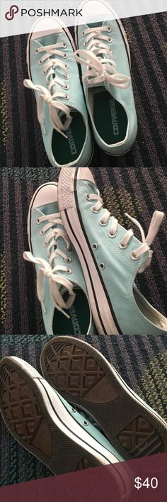 Baby blue converse Like new, only wore once Converse Shoes Sneakers