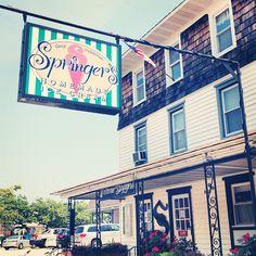 Springers ice cream,   Stone Harbor NJ. black raspberry or red raspberry.
