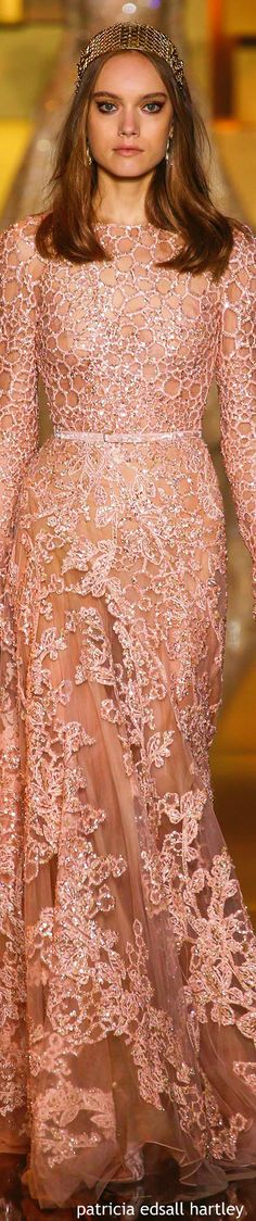 Fall 2015. Forever love Elie Saab. Embroideries/beadworks are all detailed and lovely!