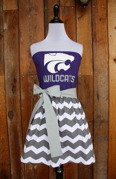 Kansas State KSU Wildcats Game Day Dress  Size by jillbenimble, $45.00