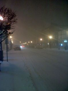 Snow covers Main St. in Clarion. Photo of the Day, January 21, 2012. By Aly Delp.
