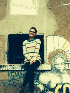 Pippi Langstrumpf - Pullover selbst gestrickt, ich liebe das Muster und die Farben !!