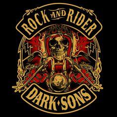 T-Shirt design ROCK & RIDER - DARK SONS...Spain 2016 !!!