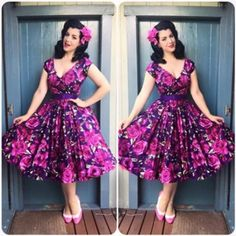 Gorgeous outfit! Beauty is @missvictoryviolet, dress @theprettydress and orchids by yours truly!! :) #sophisticatedlady #sophisticatedladyhairflowers #50s #haarblumen #hairpiece #hairflower #orchid #missvictoryvioletootd #missvictoryviolet #pinupoftheday #pinuphairflowers #pinupaccessories #pinuplife #classypinup #vintage #rockabilly #theoriginal #theprettydress #vivienofholloway #baitfootwear