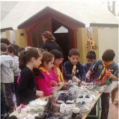 """La campaña """"Ponete en sus zapatos"""" fue un éxito. Los integrantes del grupo scout San José empezarían a entregar las donaciones en los próximos días."""