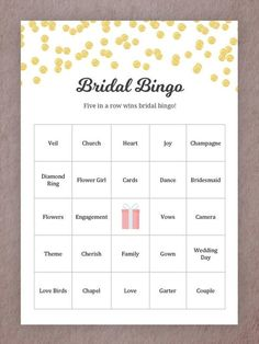 15 Printable Wedding Games That'll Entertain Guests of All Ages - Bridal Bingo Indian Wedding Games, Wedding Reception Games, Wedding Shower Games, Wedding Types, Free Wedding, Our Wedding, Wedding Ideas, Wedding Stuff, Wedding Inspiration