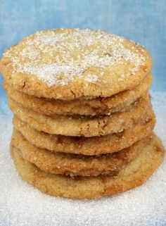 Sparkling Butter Toffee Cookies #recipe {easily one of my favorite cookie recipes of all time}- RecipeGirl.com