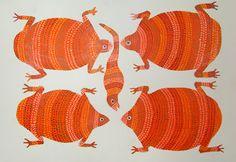 Gond and Bhil Tribal Art: Ladoo Bai