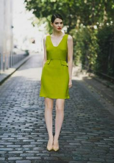High-waisted swing dress - Spring-Summer 2015 collection -