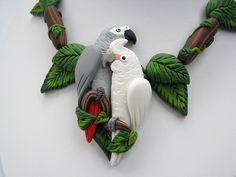 Rainforest Necklace Set by parrotjewelry