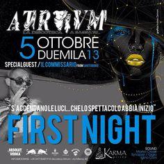 THE FIRST NIGHT – ATRIUM – SASSARI – SABATO 5 OTTOBRE 2013
