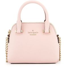 kate spade new york cedar street mini maise crossbody bag ($198) ❤ liked on Polyvore featuring bags, handbags, shoulder bags, purses, rose jade, leather crossbody purse, leather purse, crossbody handbags, leather crossbody y pink leather handbag #katespade