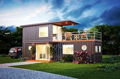 """418 gilla-markeringar, 13 kommentarer - Container Home Builders (@containerhomebuilders) på Instagram: """"Who would want a few of these built for #airbnb 480sq ft with 160sq ft patio deck 8x20ft #tiny…"""""""