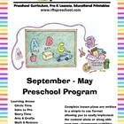RFTS-Preschool (Early Learning PreK Program Package) September - May = 9 months of teaching materials.   http://www.teacherspayteachers.com/Product/RFTS-Preschool-Early-Learning-PreK-Program-Package-September-May-711772   1398 Pages total. Includes complete monthly lesson plans and printables for September through May.