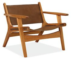 Lars Leather Lounge Chair - Modern Accent & Lounge Chairs - Modern Living Room Furniture - Room & Board