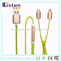new product 2016 micro usb a cable with zipper cable and fabric braided cable