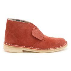 CLARKS ORIGINALS, Boots en cuir Desert rouges
