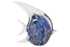 "8"" Glass Fish, Blue Ice on OneKingsLane.com$19"