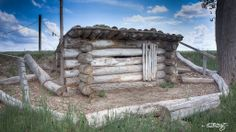 Replica of the dugout housing used by soldiers when Fort Larned was established in 1859 as Protector of the Santa Fe Trail.  Photo taken by Doug Kuony, 2014.  Dugout | Flickr - posted with permission.