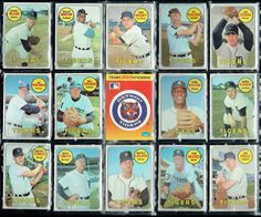 1968 WORLD SERIES CHAMPION DETROIT TIGERS AUTHENTIC TOPPS CARDS LOLICH CASH EX+ #DetroitTigers