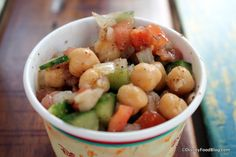 Recipe: Chickpea, Cucumber, and Tomato Salad from Harambe Market at Disney's Animal Kingdom