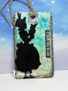 It's a card days night: Silhouette Caroler Tag Caroler, Silhouette, Tags, Night, Christmas, Xmas, Navidad, Noel, Natal