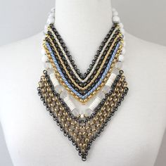 Layered necklaces from the SOLLIS jewellery AZTEC Collection. http://WWW.SOLLISJEWELLERY.COM