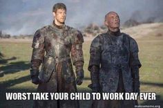 GoT - S7 - Lord Randyll Tarly with his son, Dickon.