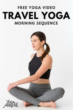 Morning Yoga On The Road - Yoga for Travel - Yoga With Adriene Yoga Sequence For Beginners, Yoga Beginners, Morning Yoga Sequences, Free Yoga Videos, Yoga With Adriene, Hard Yoga, Yoga Fitness, Fitness Fun, Yoga For Weight Loss