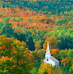 Buy or license direct from the photographer this stunning image of : Church Surrounded By Fall Colors , Sutton , Vermont Oh The Places You'll Go, Vermont, Got Married, To Go, Stock Photos, Hocus Pocus, Fall, Painting, Image
