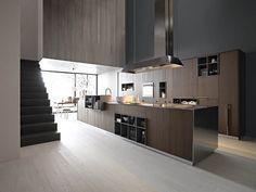 Scarica il catalogo e richiedi prezzi di cucina componibile con isola Kalea 01, design Gian Vittorio Plazzogna al produttore Cesar Arredamenti