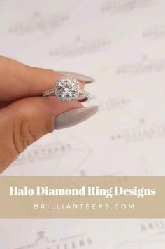 The Halo Ring Design is on the top of our list of favorite engagement ring designs. So much so that we have created a full collection of different Halo engagement ring designs! See what Halo Ring Design is for you 💫 Engagement Wedding Ring Sets, Designer Engagement Rings, Diamond Wedding Bands, Diamond Rings, Gemstone Rings, Wedding Rings, Halo Setting, Ring Designs, Diamonds