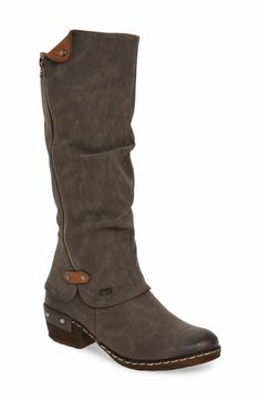 Rieker Antistress  Bernadette 55  Slightly Slouchy All Weather Boot (Women)  Jezdecké Boty 9fecc17adc