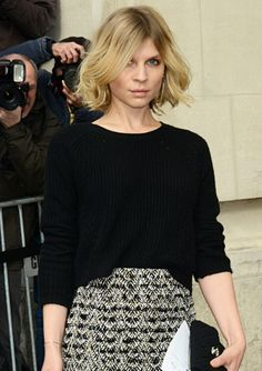 Fashion Week:  - Clemence Poesy . Love the hair!